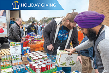 """HII employees truly embody the spirit of the holidays and the adage that """"it's better to give than receive."""""""
