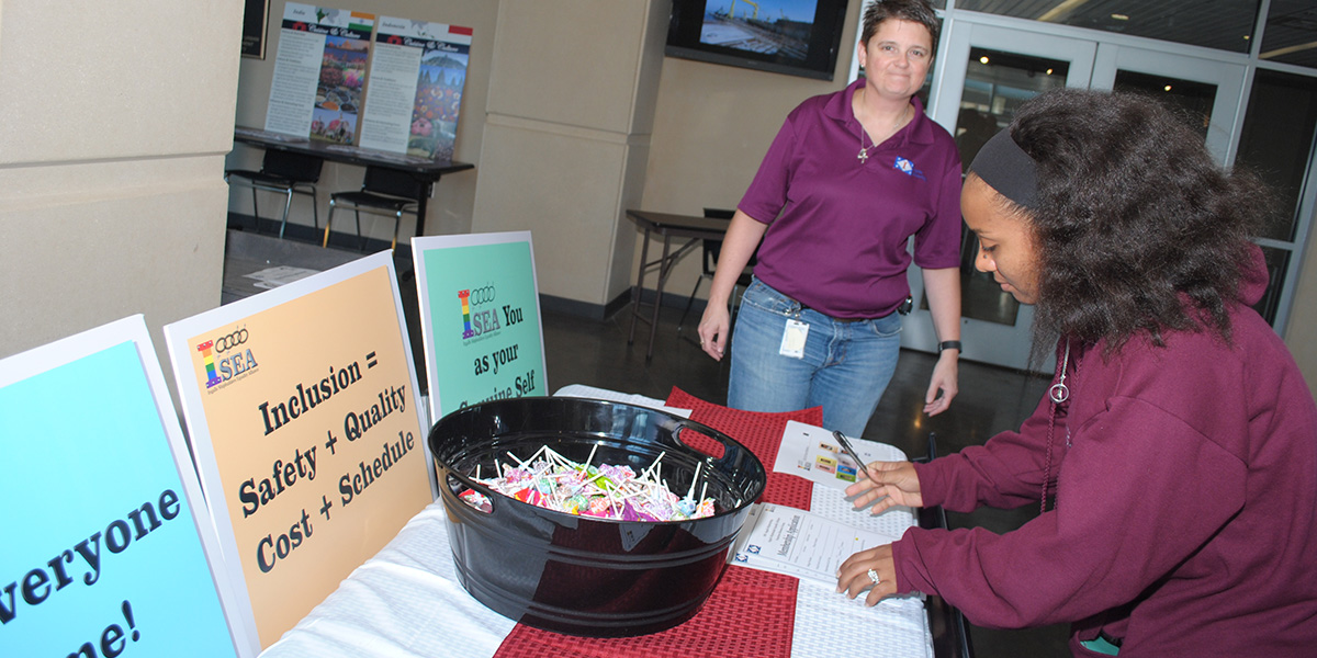 ISEA Gains New Members: ISEA at Ingalls gained new members from the ERG Expo held at the Haley Reeves Barbour Maritime Training Academy.
