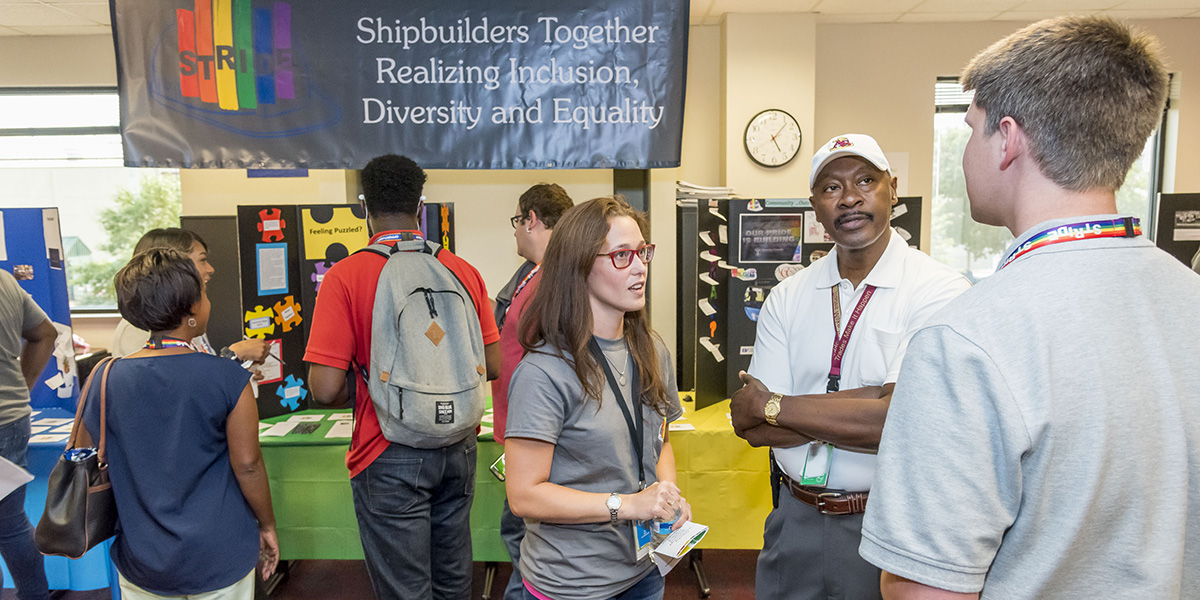 STRIDE Kickoff Event: STRIDE at Newport News hosted an event to welcome new members and educate shipbuilders on LGBT causes.