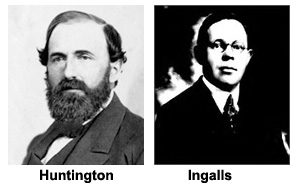 Portraits of Collis P. Huntington and Robert Ingersoll Ingalls