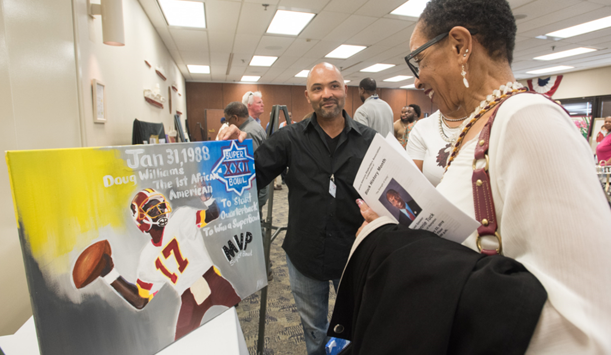 Annual Black History Month celebration sponsored by African American Shipbuilders Association (AASA) featured art, music and dance by Newport News Shipbuilders.
