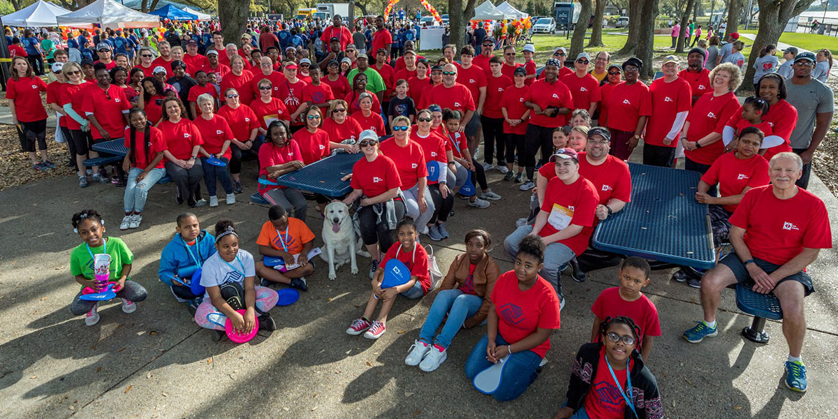 March 21: More than 150 Ingalls shipbuilders and their family members took part in the 2018 Jackson County Heart Walk, raising $13,800.