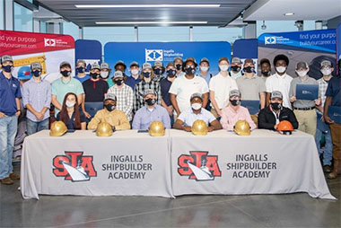 Ingalls Shipbuilding extends full-time job offers to 29 high school seniors.
